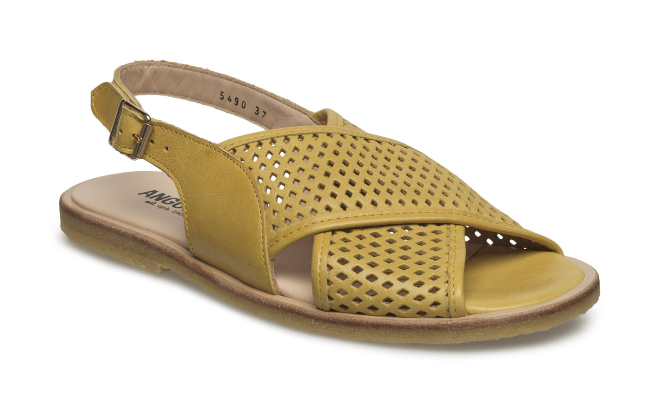 ANGULUS Sling-back sandal with hole pattern and buckle.