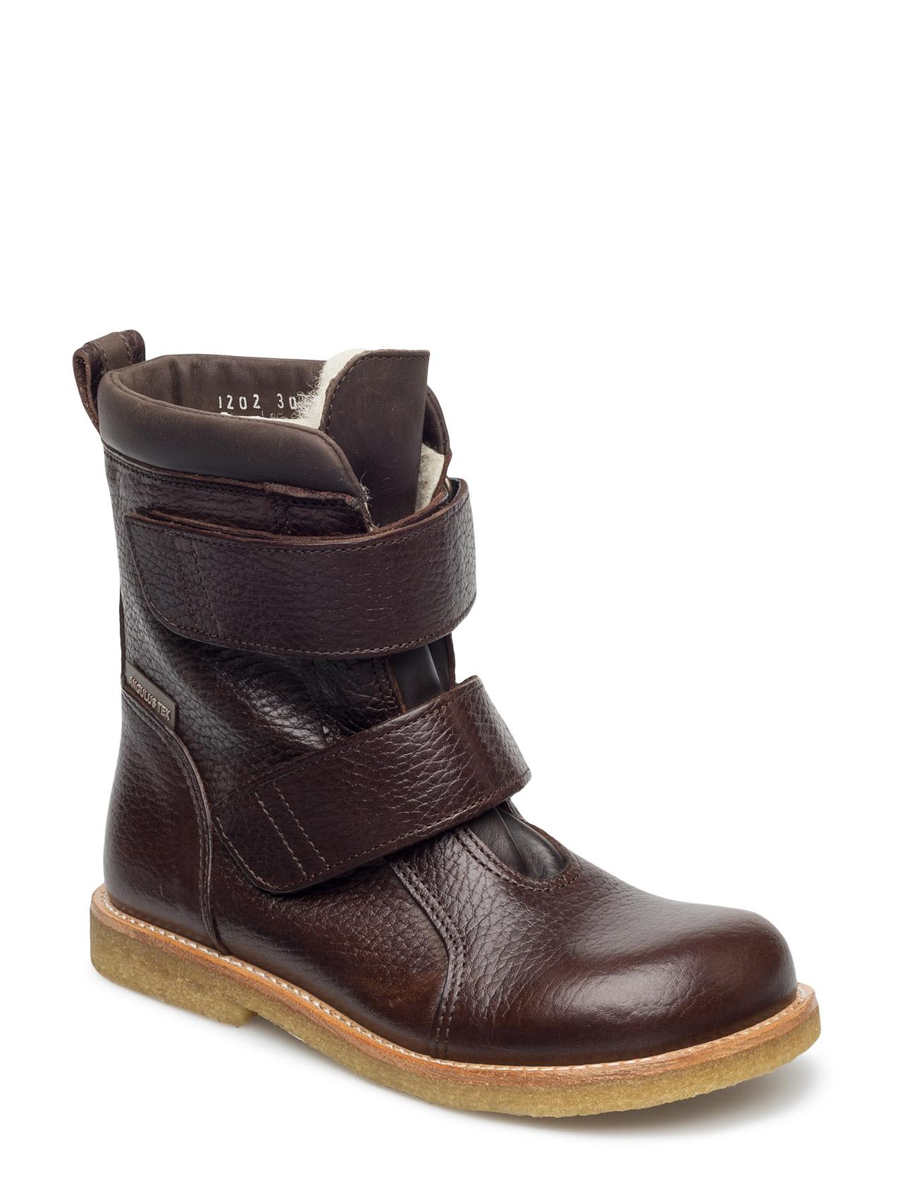 1202 ANGULUS Støvler til Børn i Mørkebrun