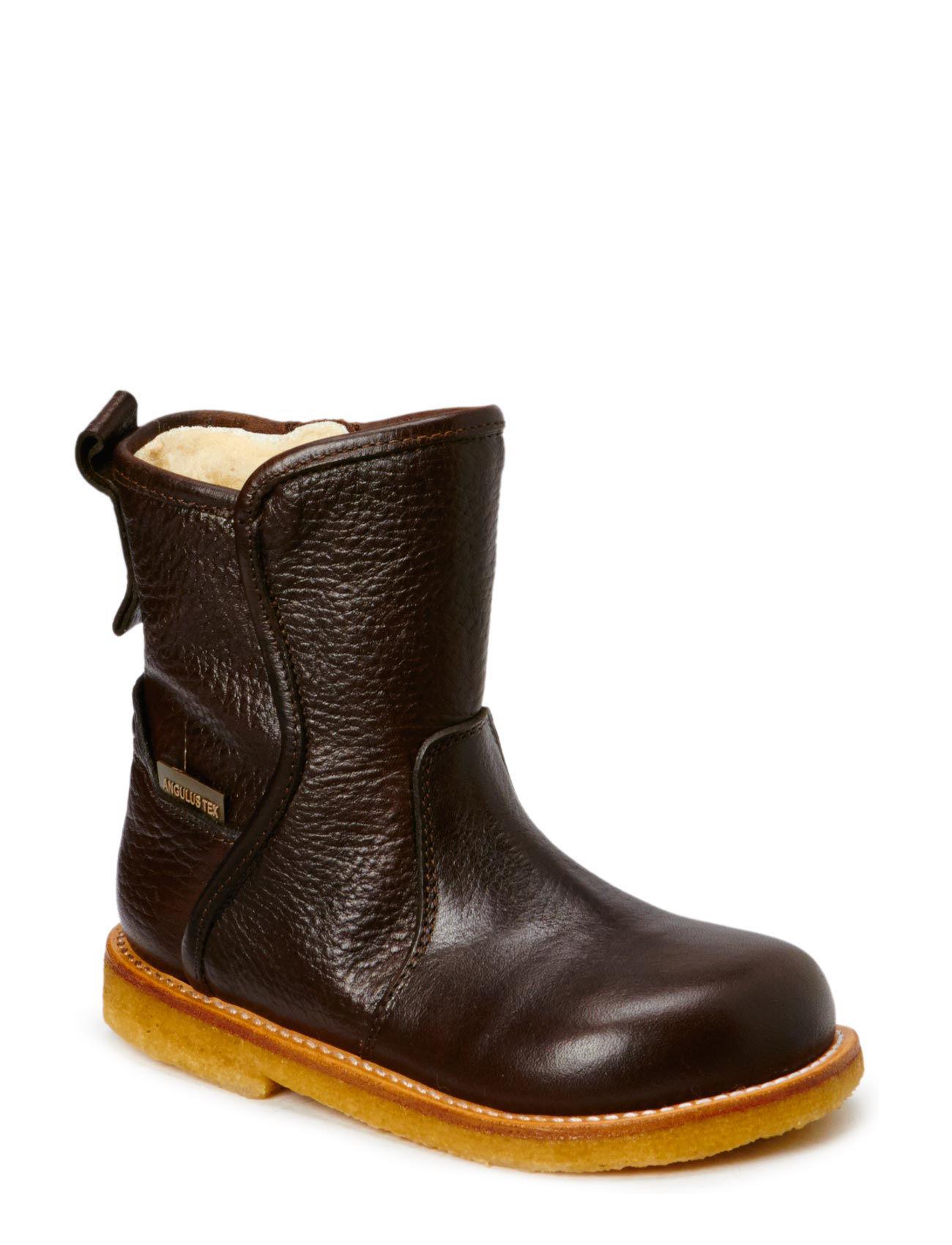 Booties - Flat - With Zipper ANGULUS Støvler til Børn i