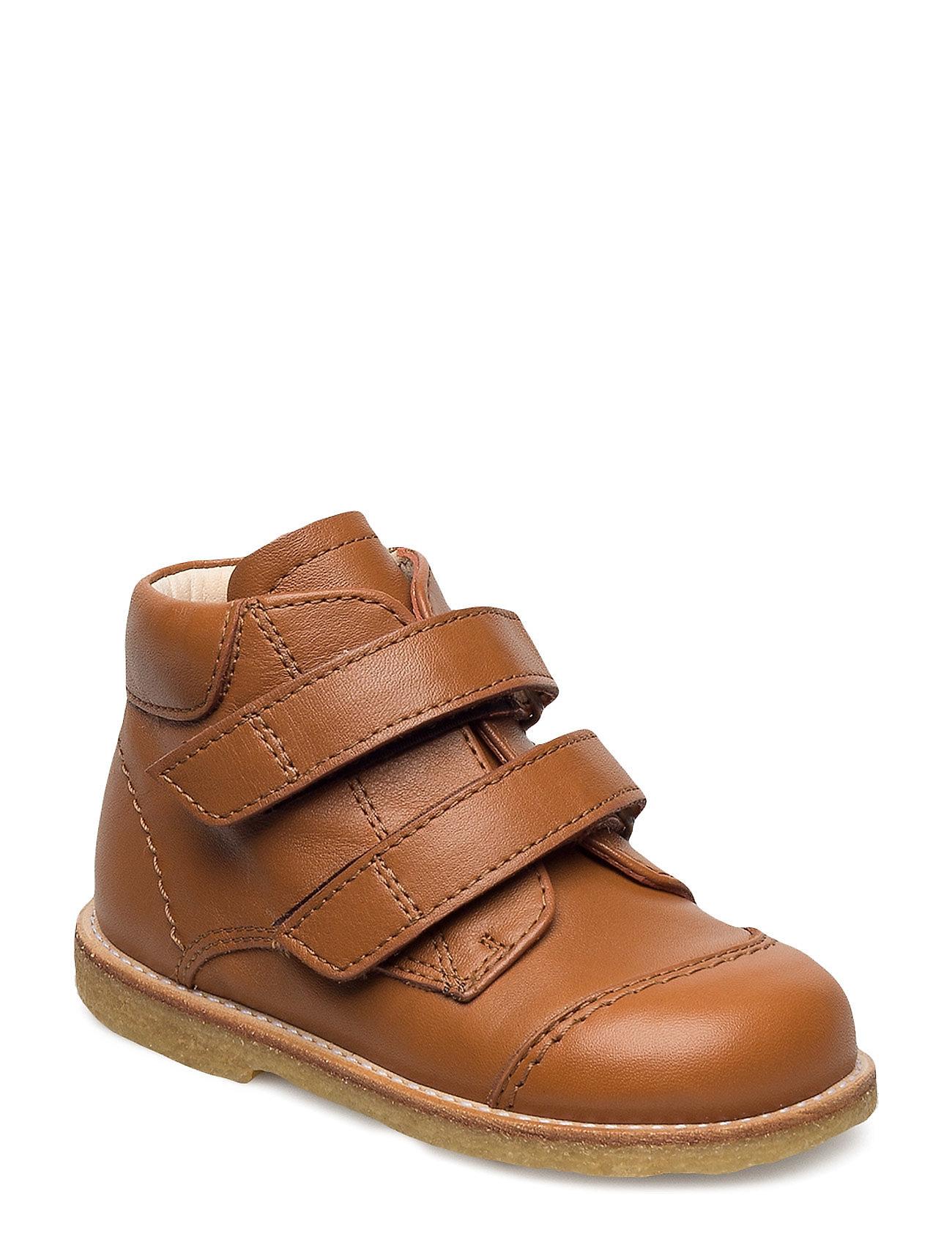 6105abca4ee Bestil Shoes – Flat – With Velcro ANGULUS Sko i cognac til Børn i en ...
