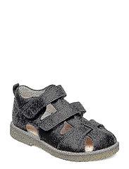 Sandal with velcro closure - 1652 BLACK