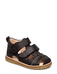 Sandals - flat - DARK BROWN