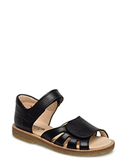 Sandal w. velcro closure - 1933 BLACK