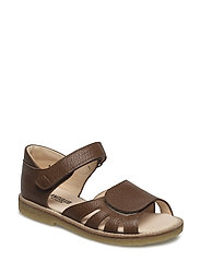 Sandal w. velcro closure - 1968 OAK BROWN