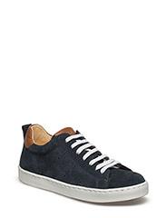 Sneakers w. lace - NAVY/COGNAC/COG
