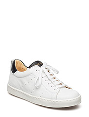 Sneakers w. lace - WHITE/BLACK/BLA