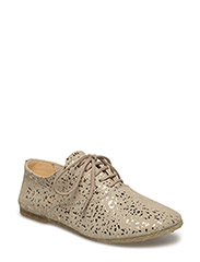 Lace-up shoe - 2469 BEIGE W/ GOLD DOTS