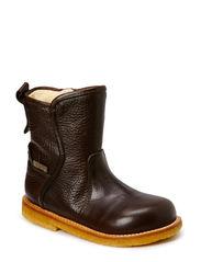 Booties - flat - with zipper - 2505/1660 DARK BROWN