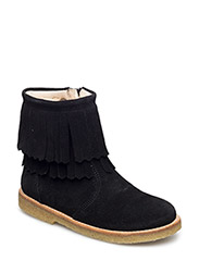 Boots - flat - BLACK