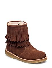 Boots - flat - COGNAC