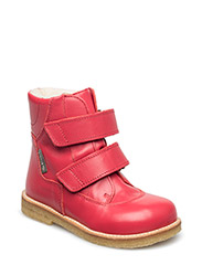 Boots - flat - with velcro - 1486/1486 RED/RED