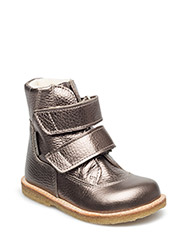 Boots - flat - with velcro - 1541/1541 BRONZE/BRONZE