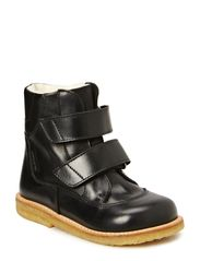 Boots - flat - with velcro - 1801/1200 BLACK