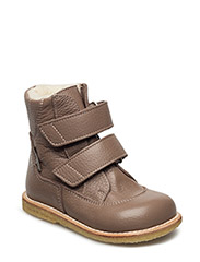 Boots - flat - with velcro - DUSTY ROSEBROWN/DUST
