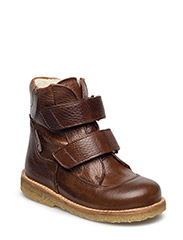Boots - flat - with velcro - MEDIUM BROWN/MEDIUM