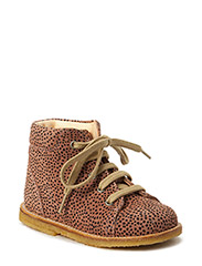 Boots - flat - with laces - 2433 DUSTY ROSE W. BLACK DOT