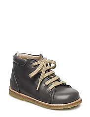 Boots - flat - with laces - ANTHRACITE