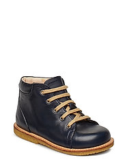 Boots - flat - with laces - NAVY