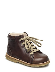 Boots - flat - with laces - 1562 ANGULUS BROWN