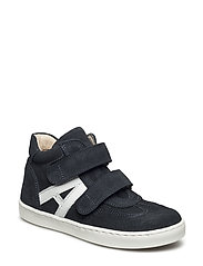 Shoes - flat - with velcro - NAVY/WHITE