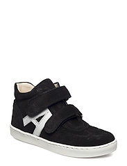 Shoes - flat - with velcro - BLACK/WHITE