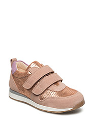 Classic sneakers w. velcro - 1196/2423/2154 ROSE/COPPER/PURPLE