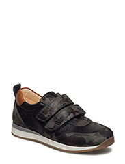 Classic sneakers w. velcro - 2175/1604/2415 ARMY/BLACK/COGN