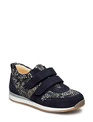 Shoes - flat - 1164/2463 NAVY/ BLUE CIRKLE PRINT