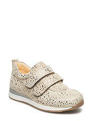 Shoes - flat - 2469/2469 BEIGE W/ GOLD DOTS