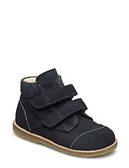Shoes - flat - with velcro - 1147 NAVY