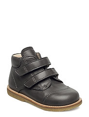 Shoes - flat - with velcro - ANTHRACITE
