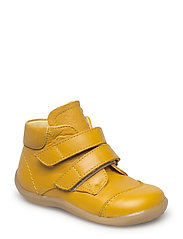 Shoes - flat - with velcro - 1574 YELLOW