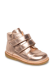 Shoes - flat - with velcro - 1311 ROSE COPPER