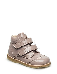 Shoes - flat - with velcro - ROSE