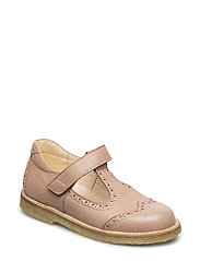 Mary janes with velcro strap - 1533 DUSTY PEACH