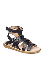 Sandal w. zipper - 1604 BLACK