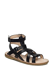 Sandal w. zipper - 1785 BLACK