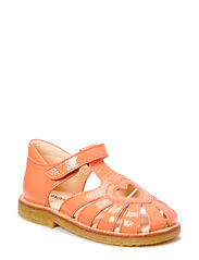 Sandal with heart detail - Patent coral