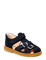 Sandal with two buckles in front - 1261 Blueblack