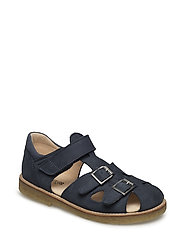 Sandal with two buckles in front - 2612 BLUE