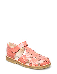 Sandal with flowers - 2324 CORAL