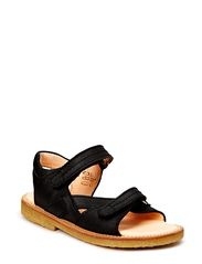 Sandal with open front and heel - 1652 Black