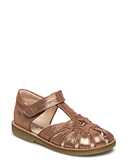 Sandals - flat - closed toe -  - 2423 DARK COPPER GLITTER