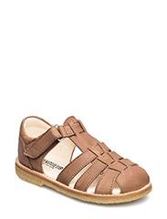 Sandals - flat - 1589 DARK COGNAC