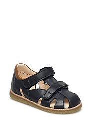 Sandals - flat - BLUE/COGNAC