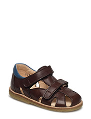 Sandals - flat - 1562/1535 ANGULUS BROWN/BLUE