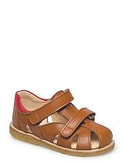 Sandals - flat - 2415/1565 COGNAC/RED