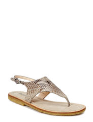 Sandal with crepe sole - 1337 Snake light green