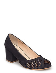 Sandals  - wedge -open toe -closed counter - 1200 BLACK