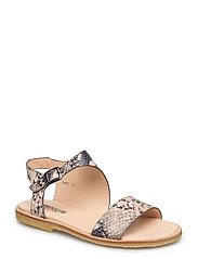 Sandal with buckle - 2481 GREY SNAKE